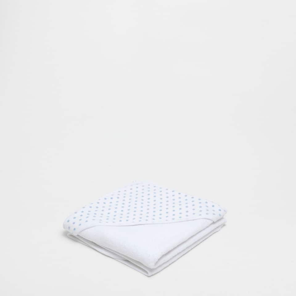 Polka-dot double-weave towel