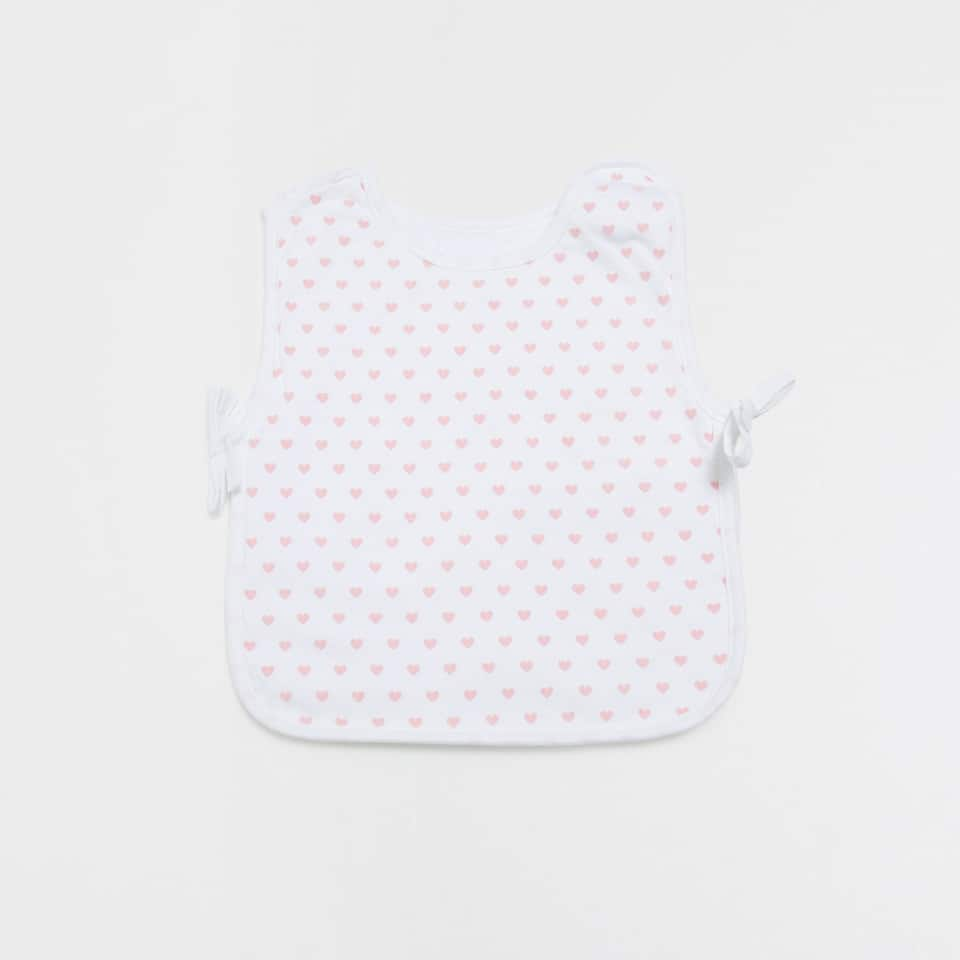 Mini hearts double-weave bib