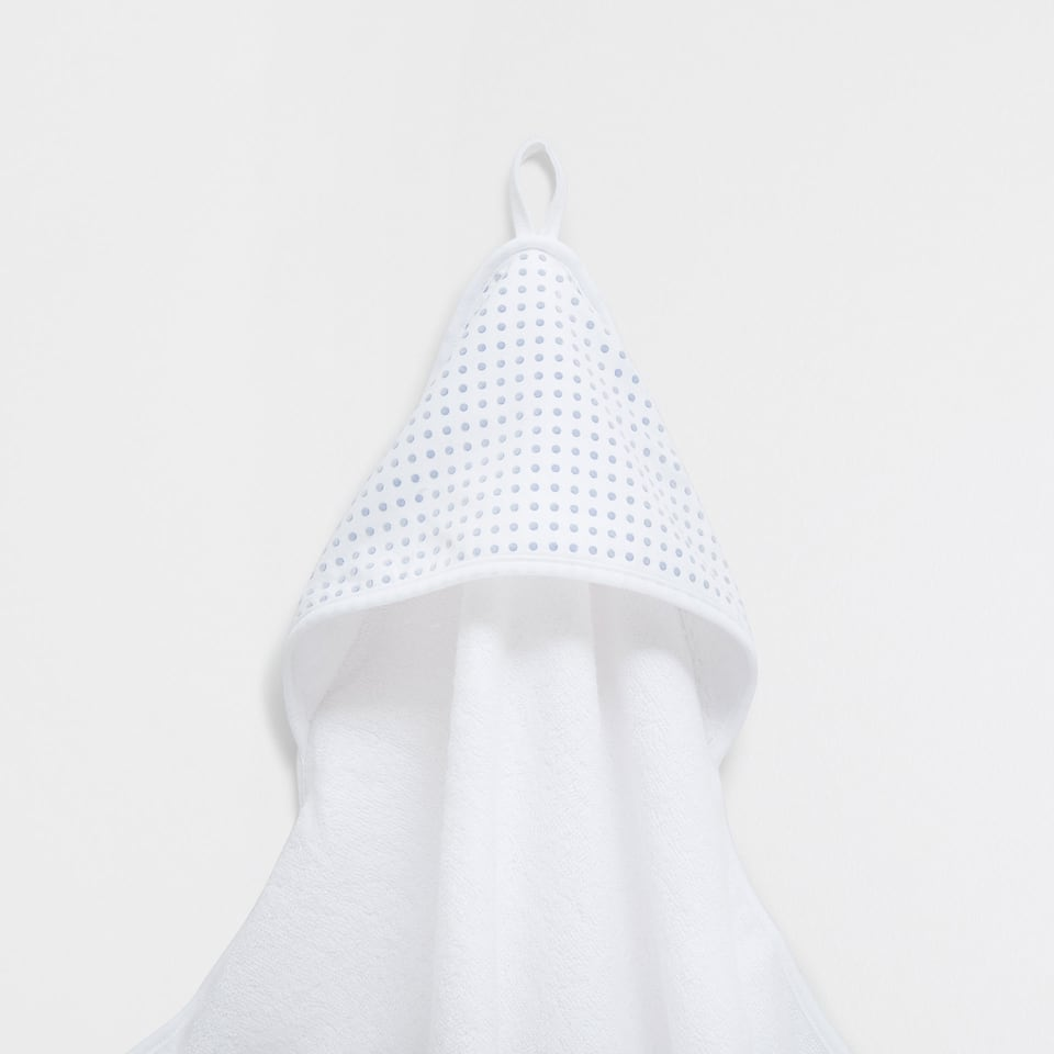 Tiny polka-dots printed double-weave towel