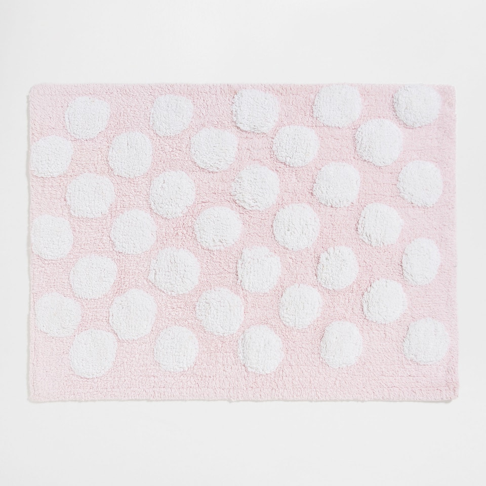 Tiny polka-dots cotton rug