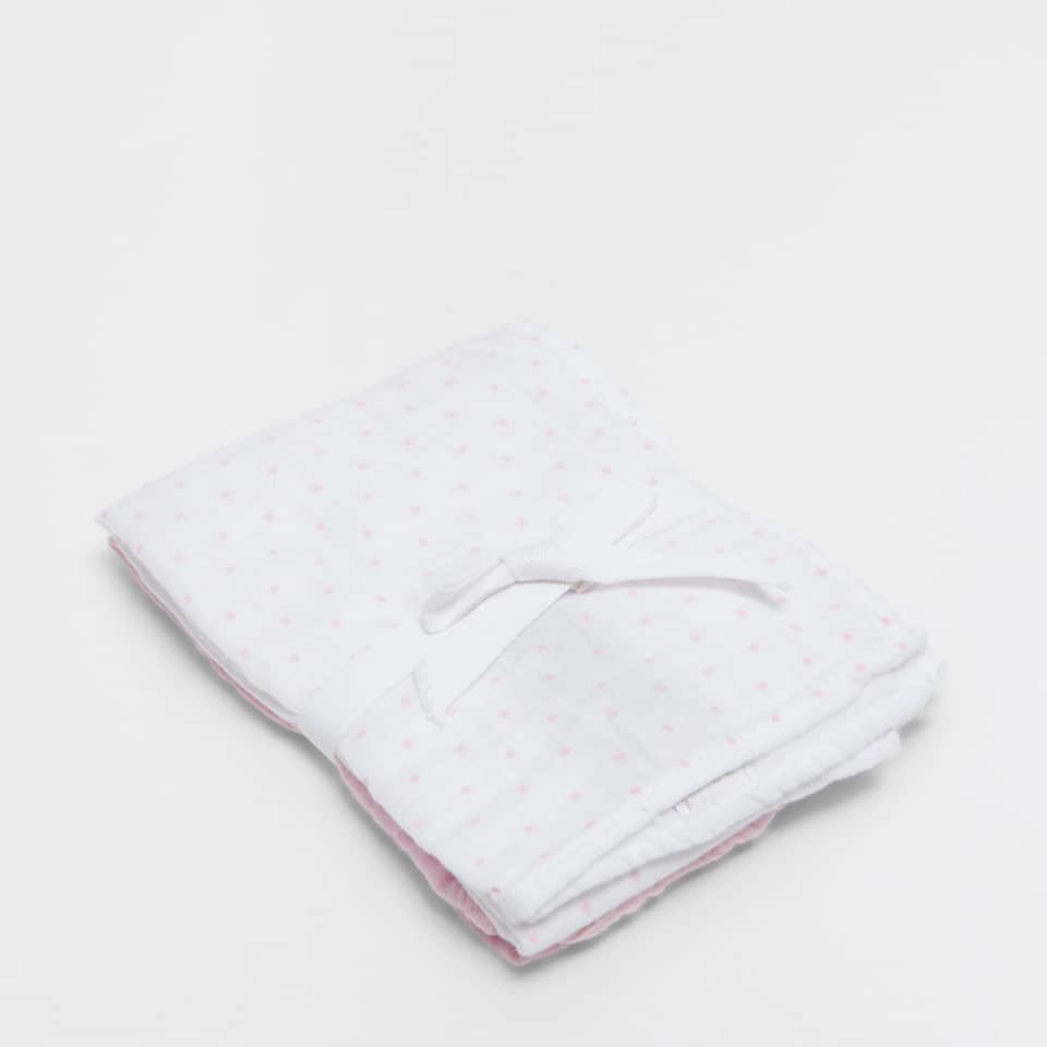Polka-dot baby cloths (set of 2)