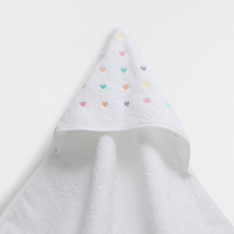 Stars embroidered cotton towel