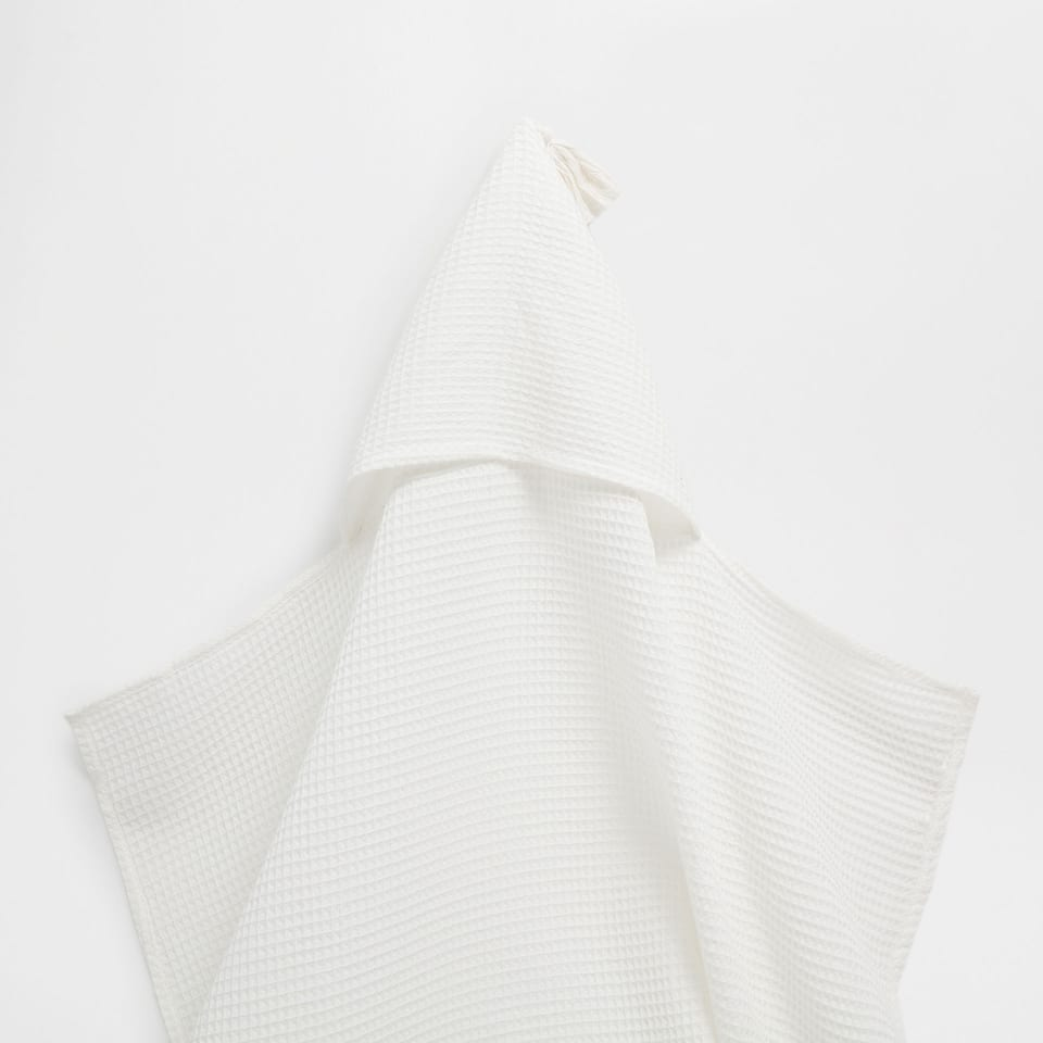 Honeycomb-effect cotton towel