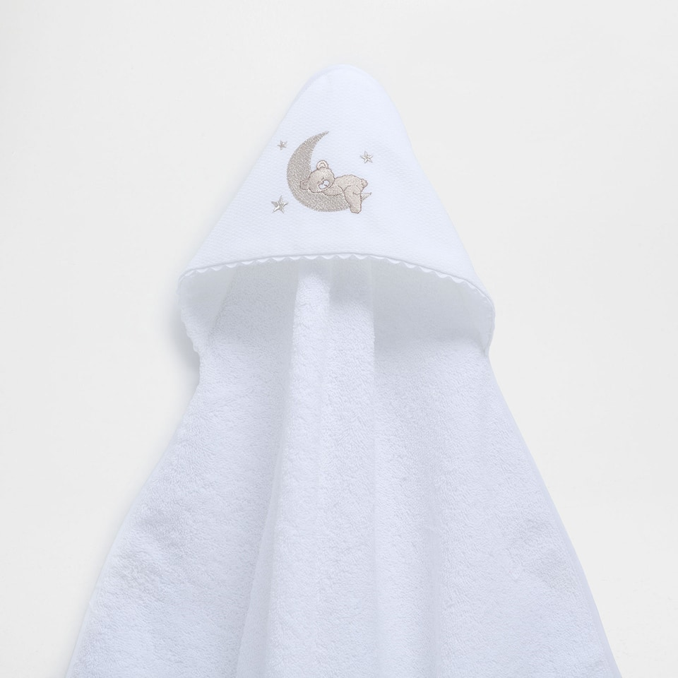 Bear embroidered cotton towel