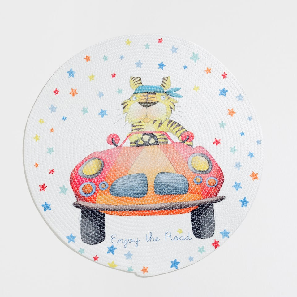 Car printed bath mat