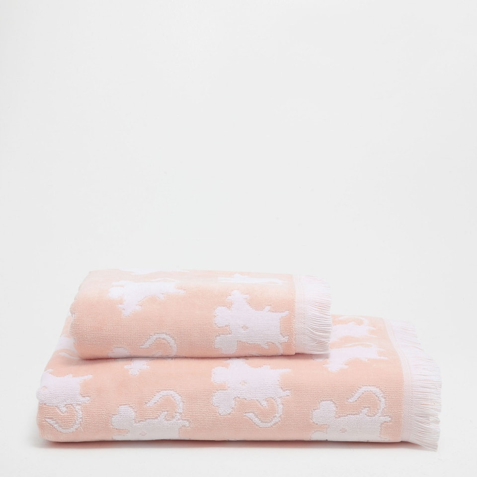 Mice fringed cotton towel