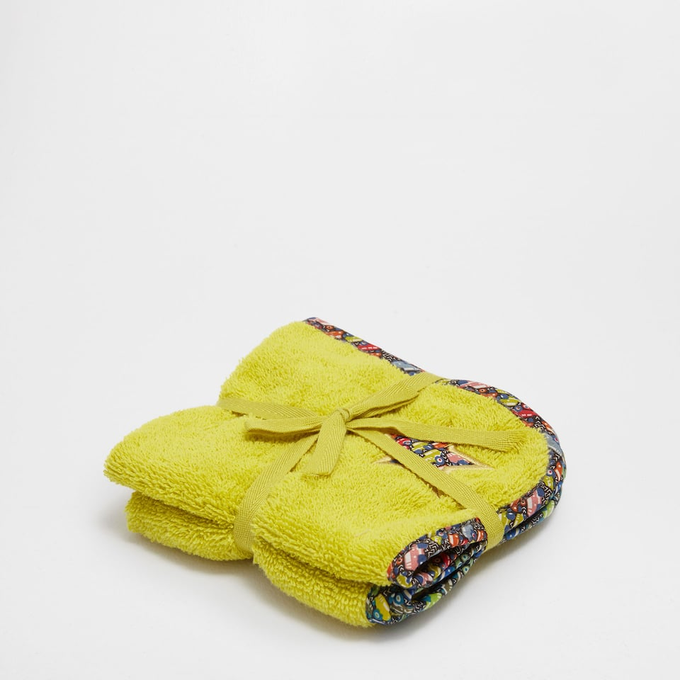 Truck printed appliqué cotton towel set