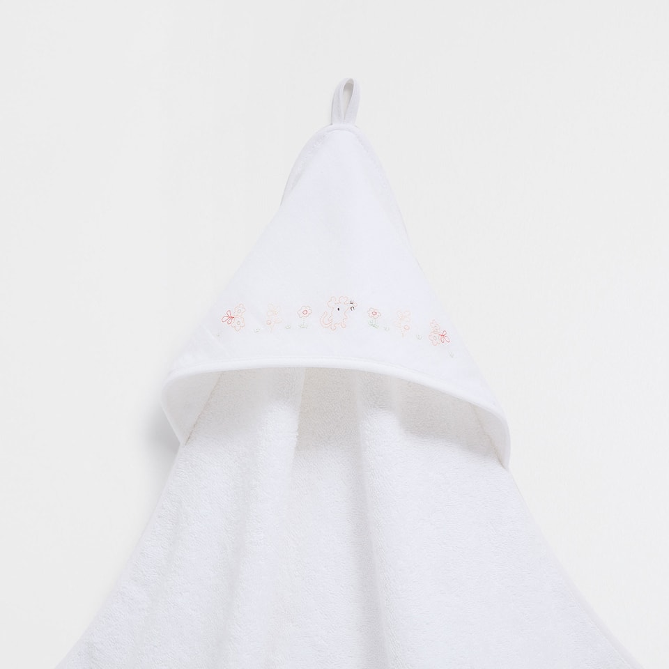 Mouse embroidered double-weave towel
