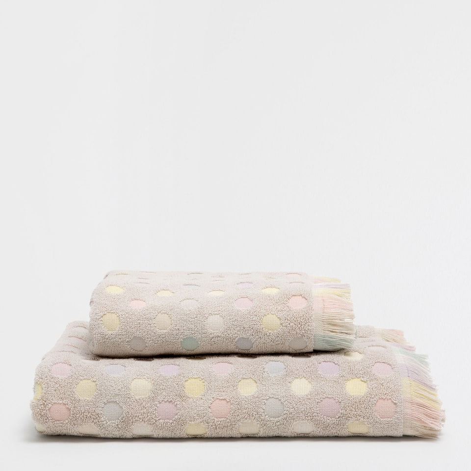 Polka-dots cotton towel