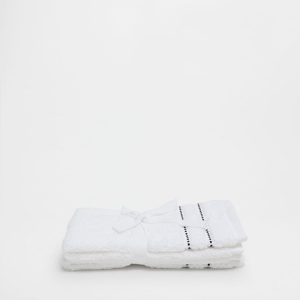 COTTON TOWEL WITH LINES BORDER (SET OF 2)