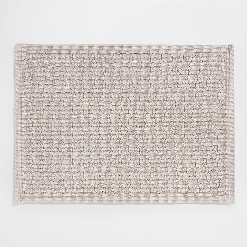 GEOMETRIC DESIGN COTTON BATH MAT
