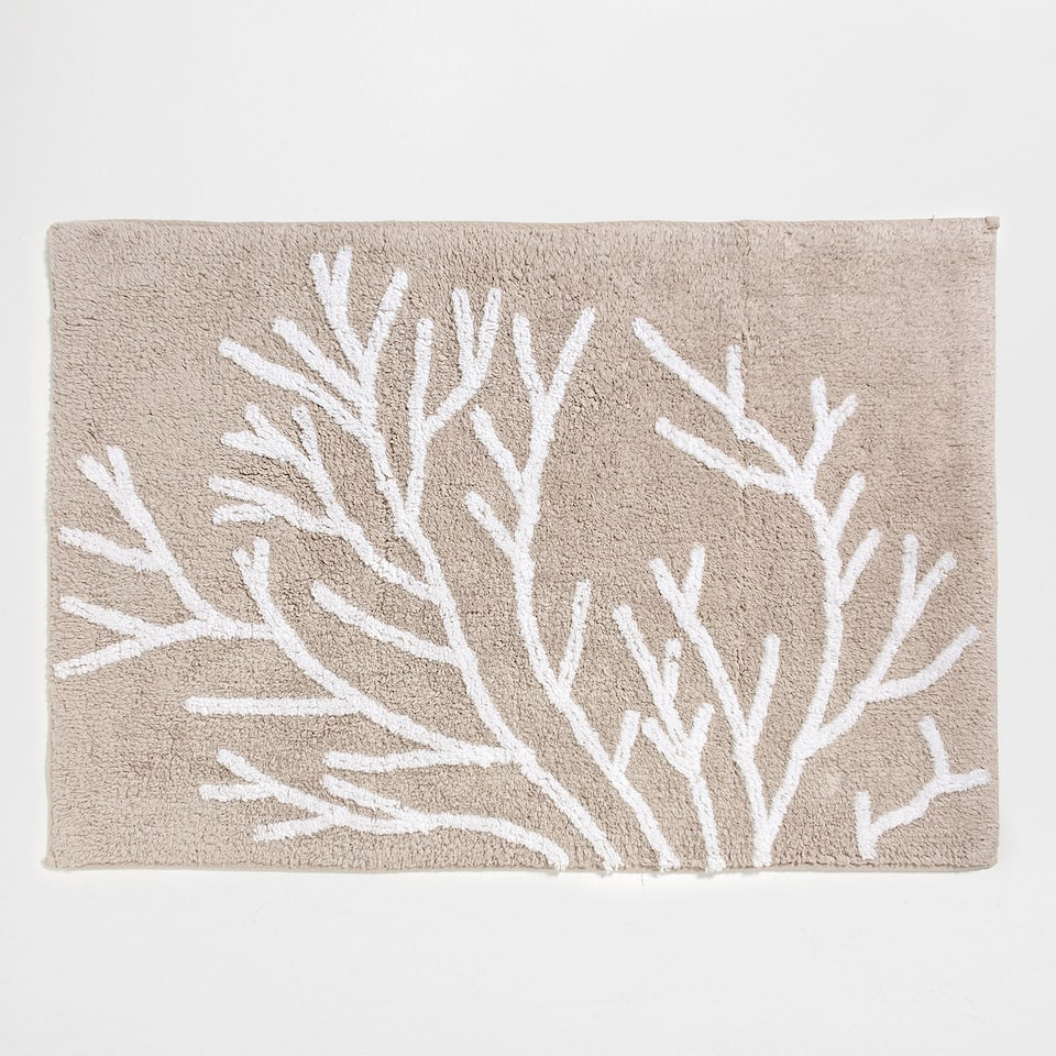 CORAL COTTON BATH MAT