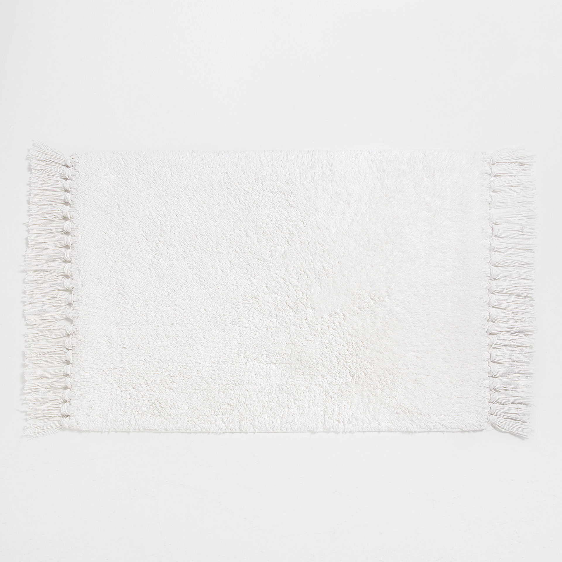 COTTON BATH MAT WITH FRINGING