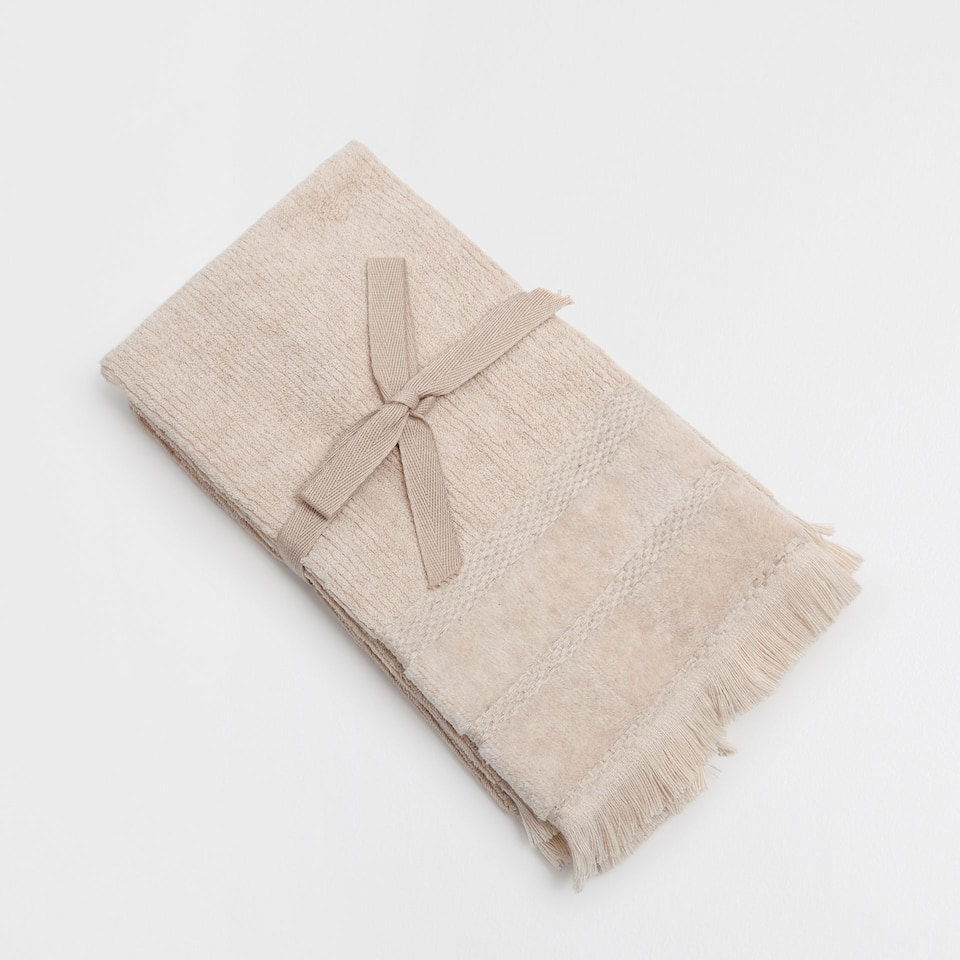 STONE TOWELS WITH LIGHT LINES (SET OF 2)