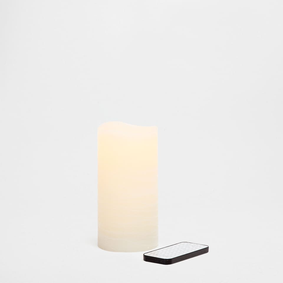 Artificial-flame wax candle