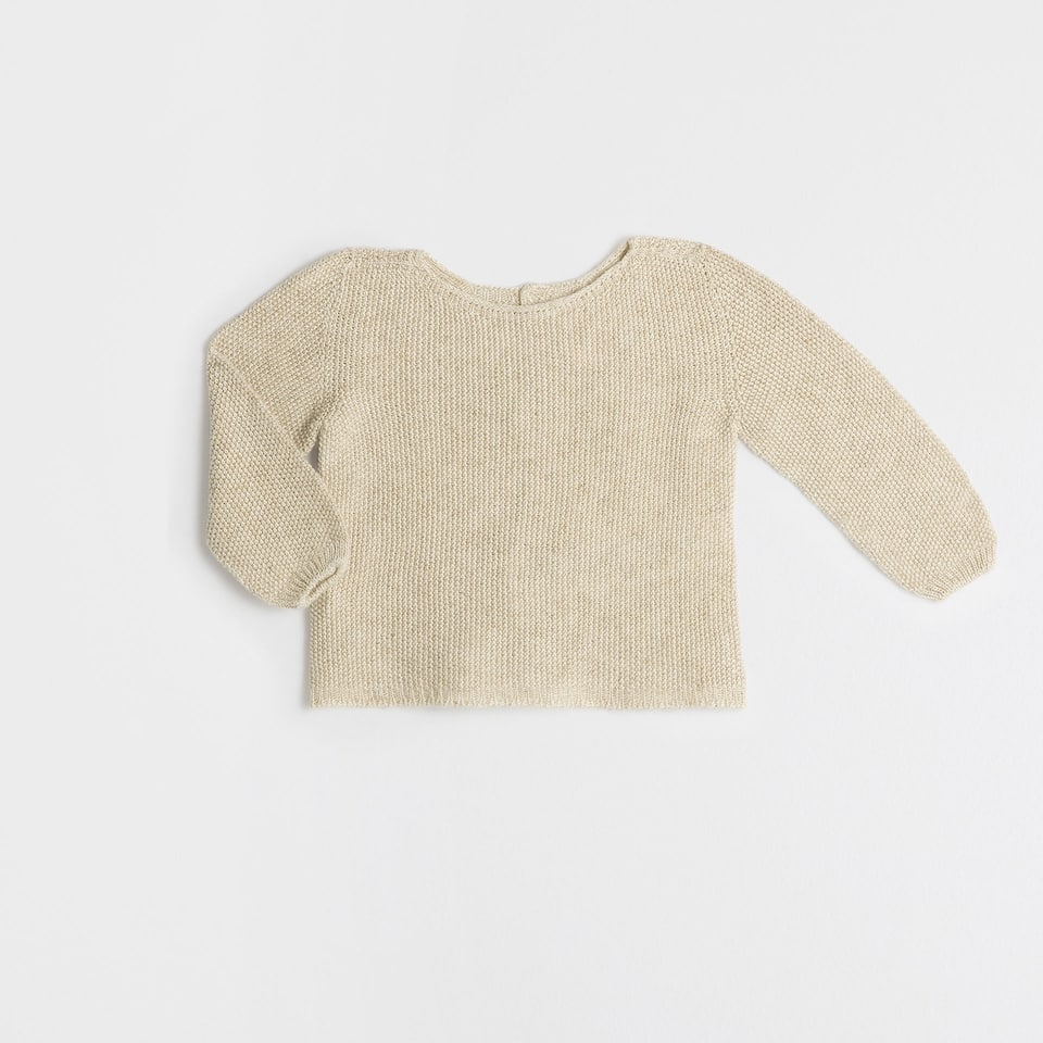 Sand colour knit sweater