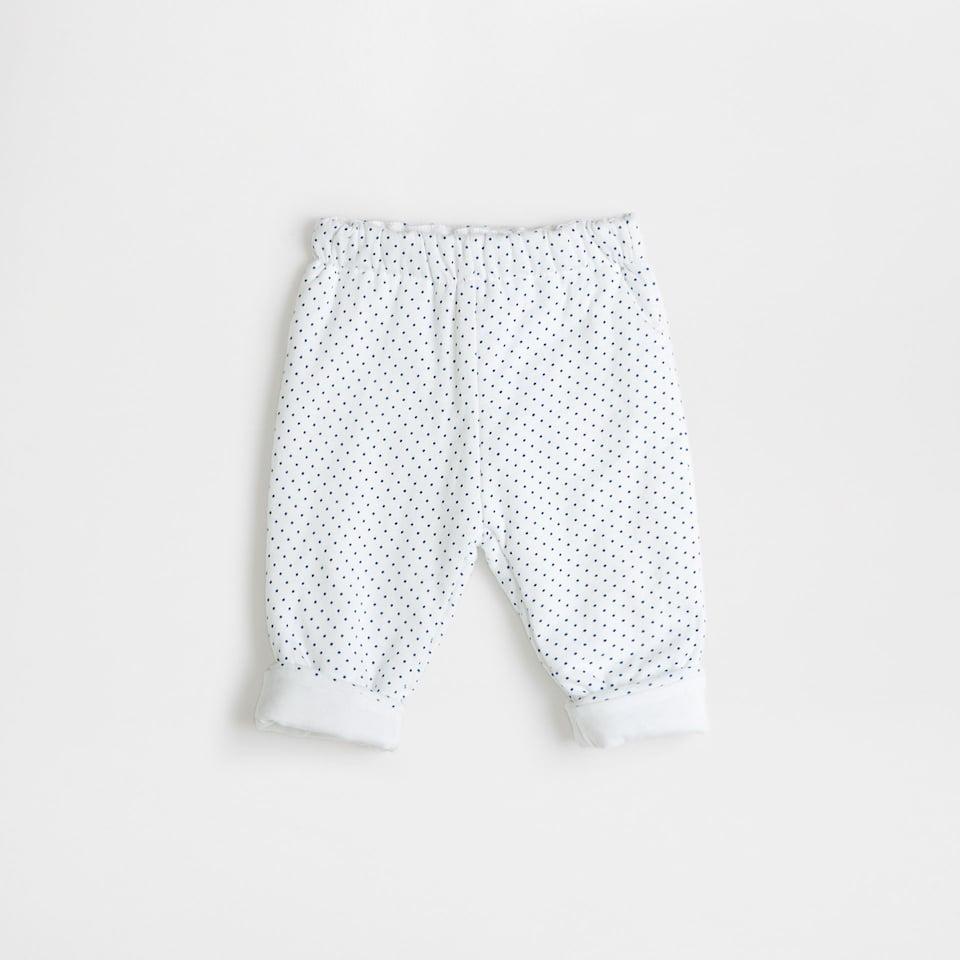 Polka dot cotton trousers