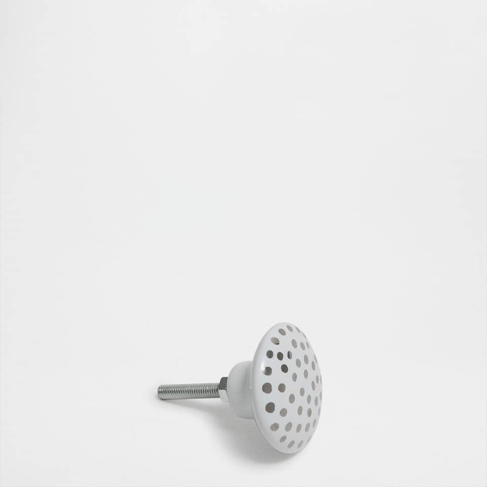 Ceramic polka dot knob (set of 2)