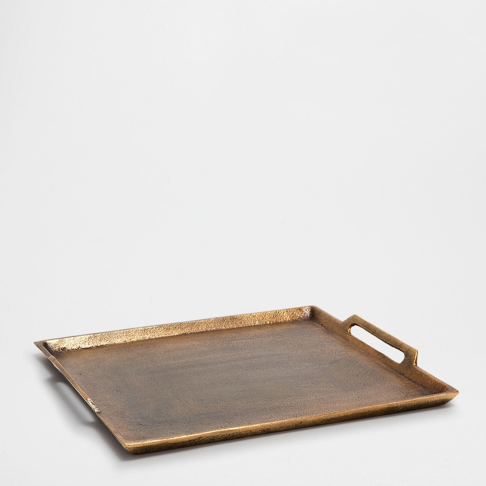 Golden square tray