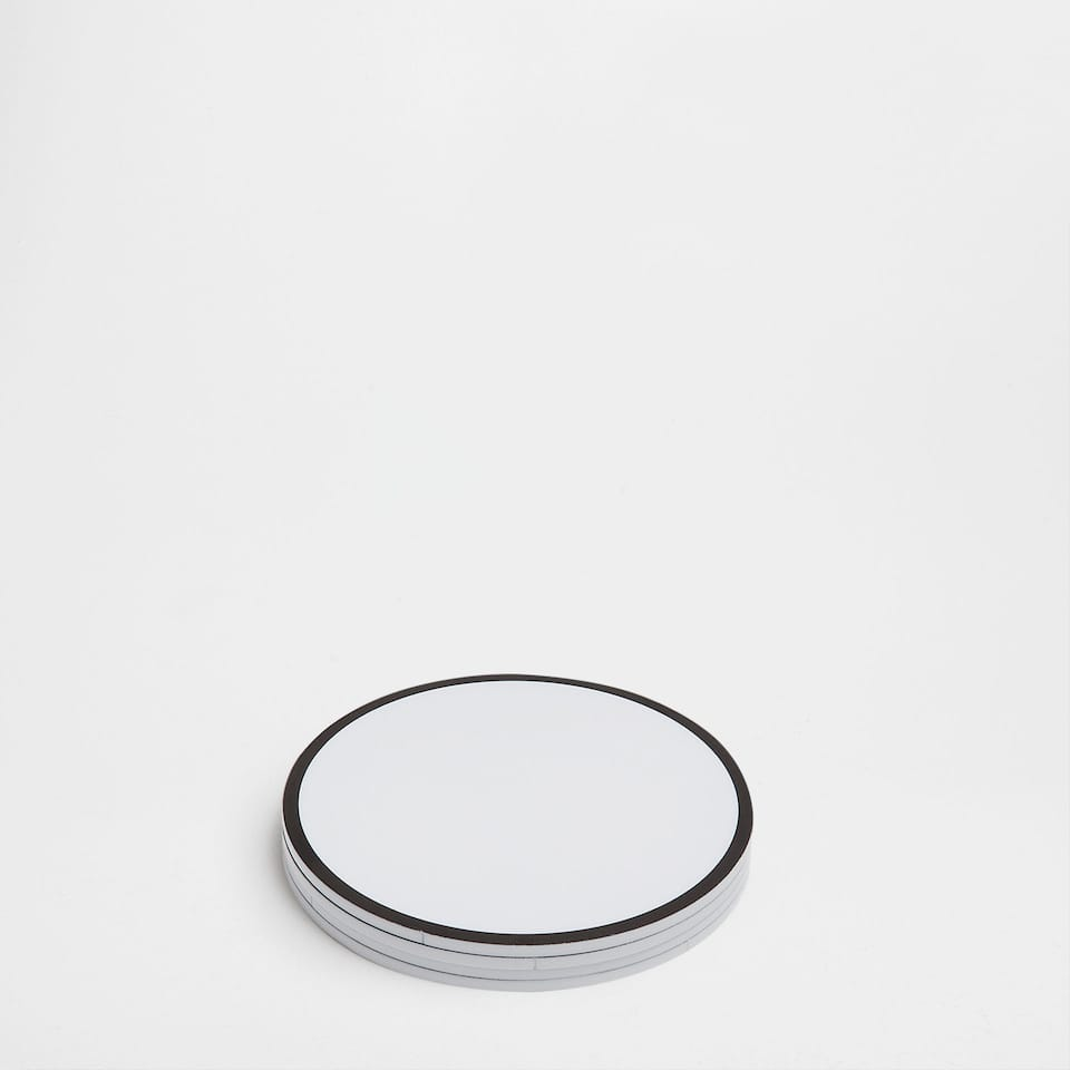 Contrasting methacrylate coasters (set of 4)