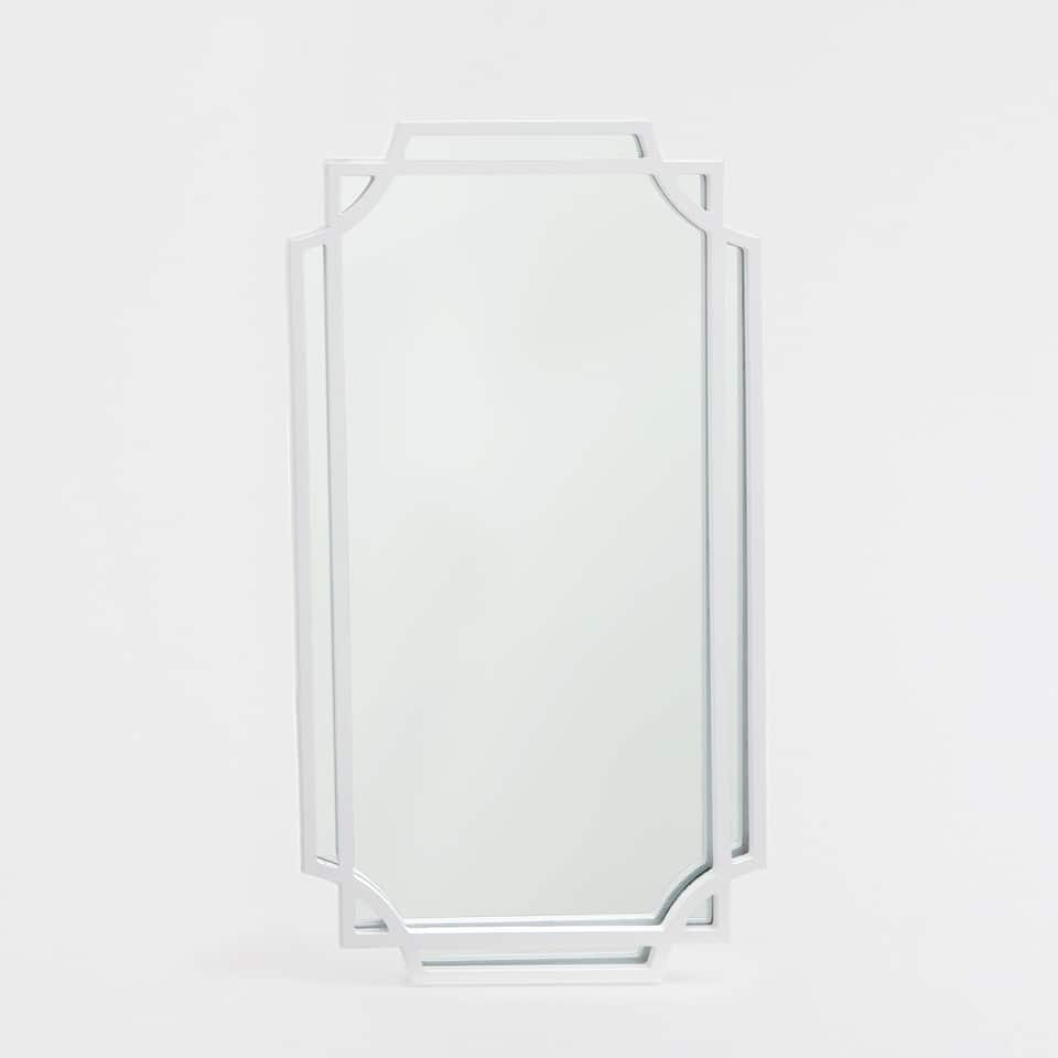 White mirror with an irregular double frame