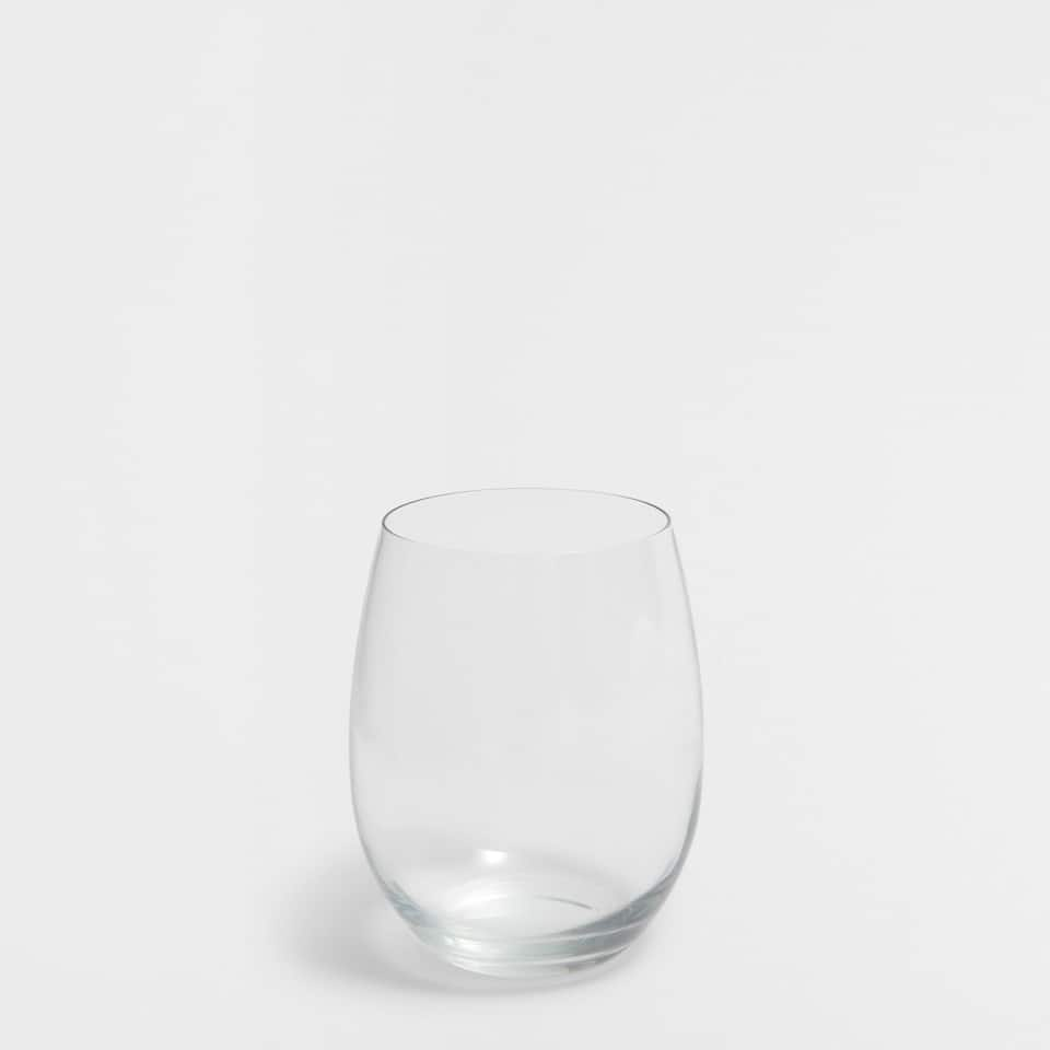 Rounded glass tumbler
