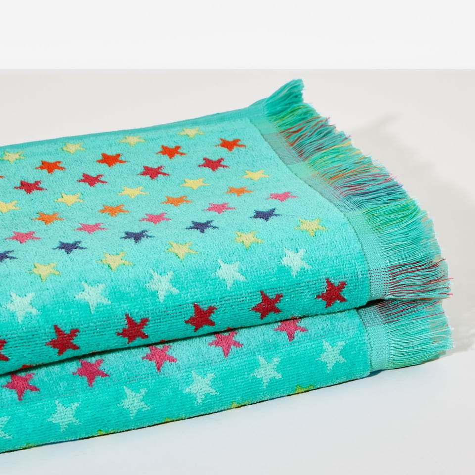 Multicoloured stars towel