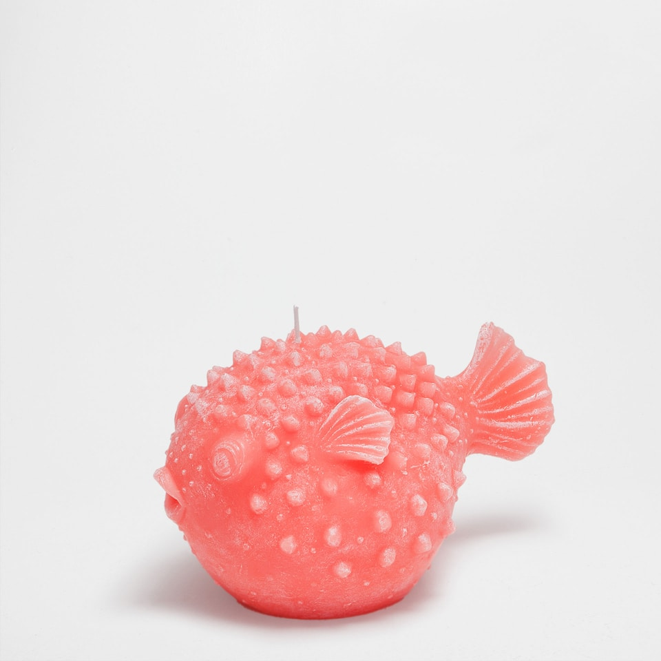 Puffer fish candle