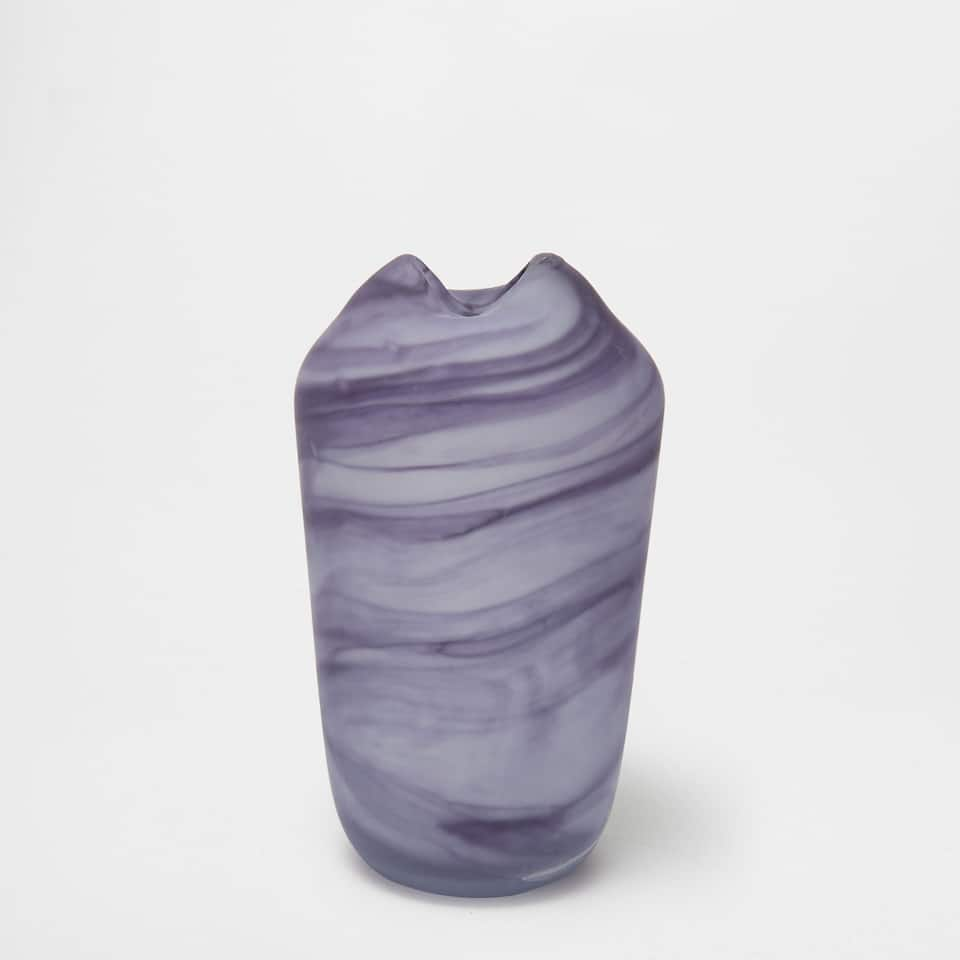 MARBLE-EFFECT GLASS VASE