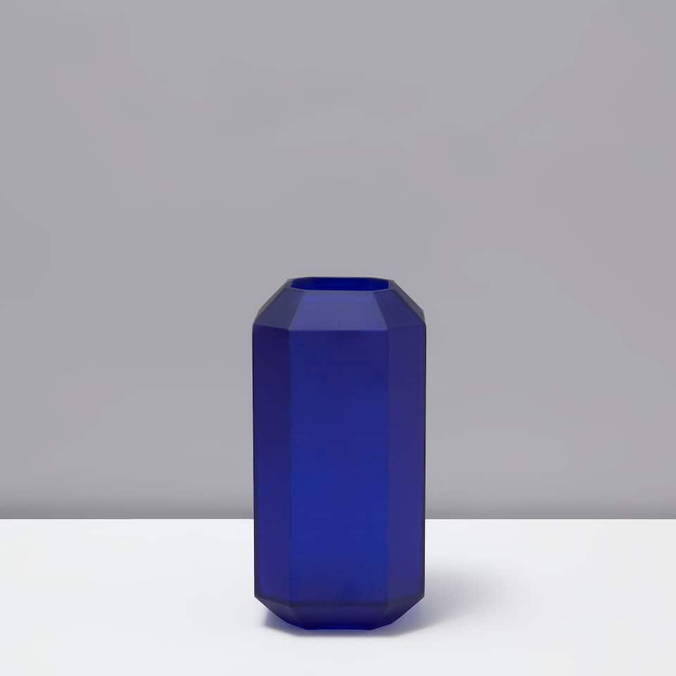FROSTED GEOMETRIC VASE