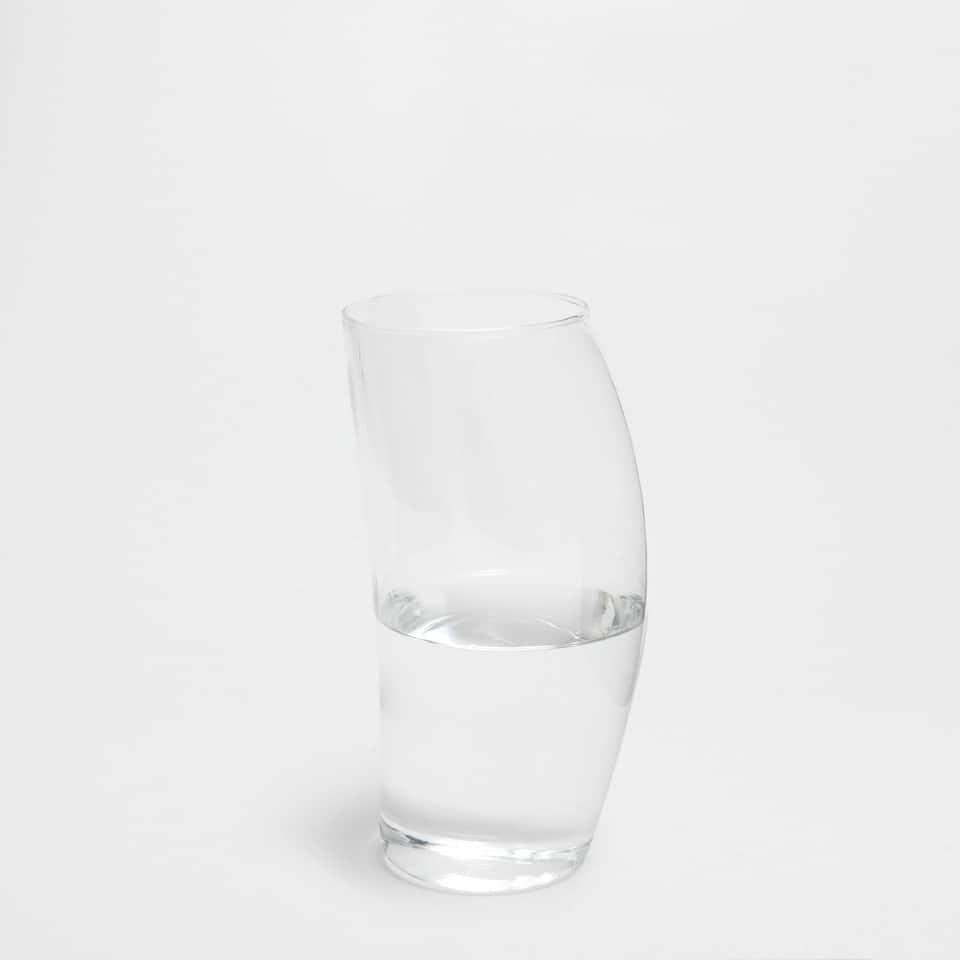イレギュラーフォーム透明ガラス花瓶