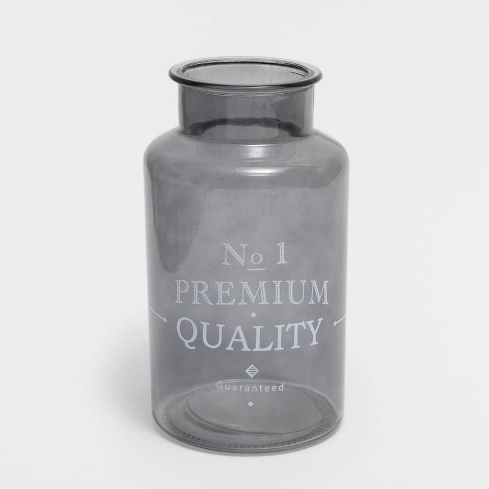 グレーデザインガラス花瓶