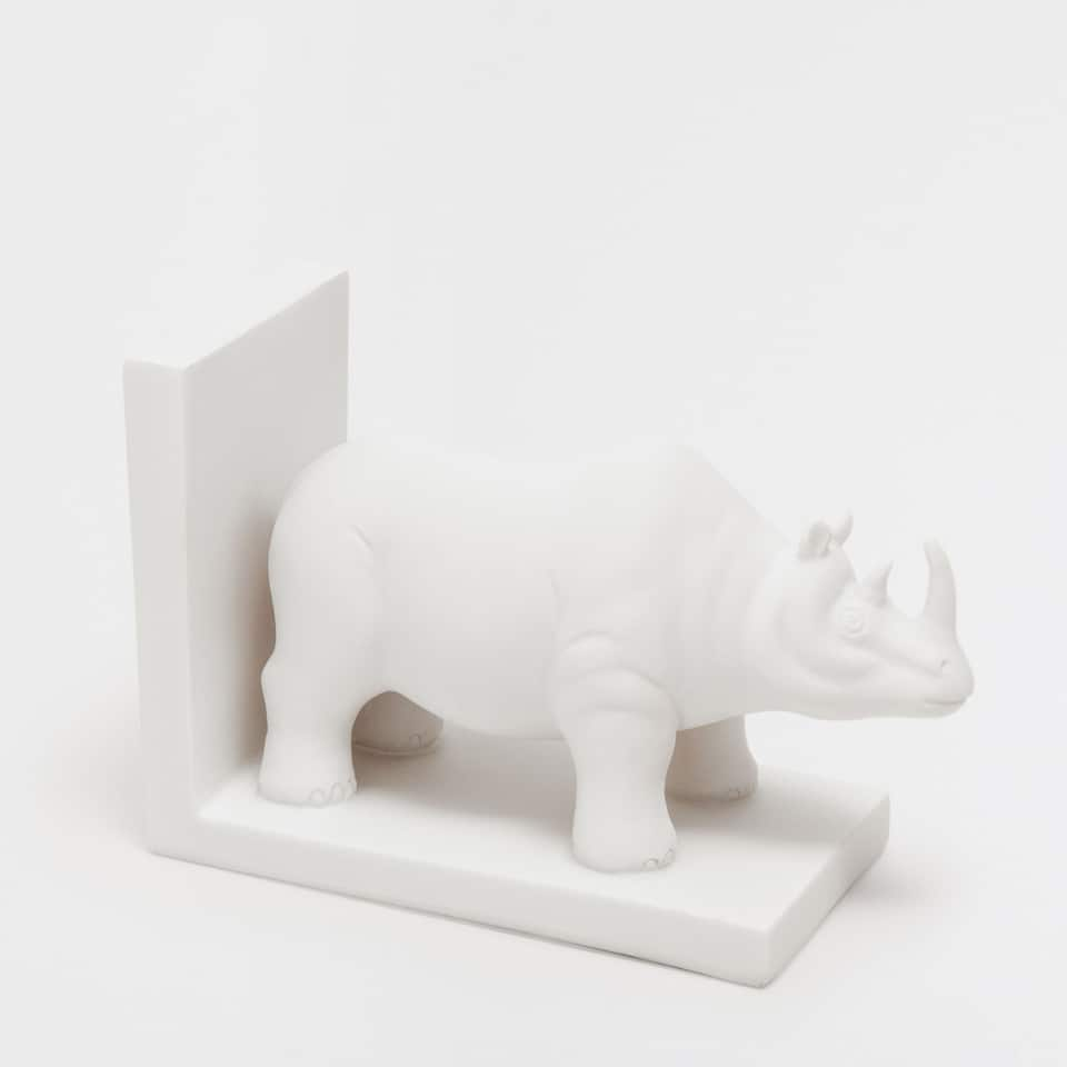 Rhino-shaped bookend