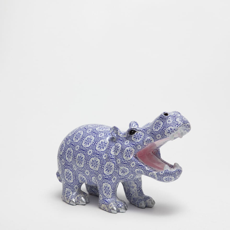 Decorative hippopotamus figure