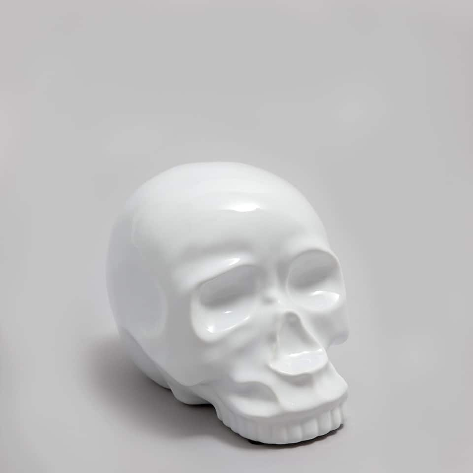 Ceramic skull decorative figure