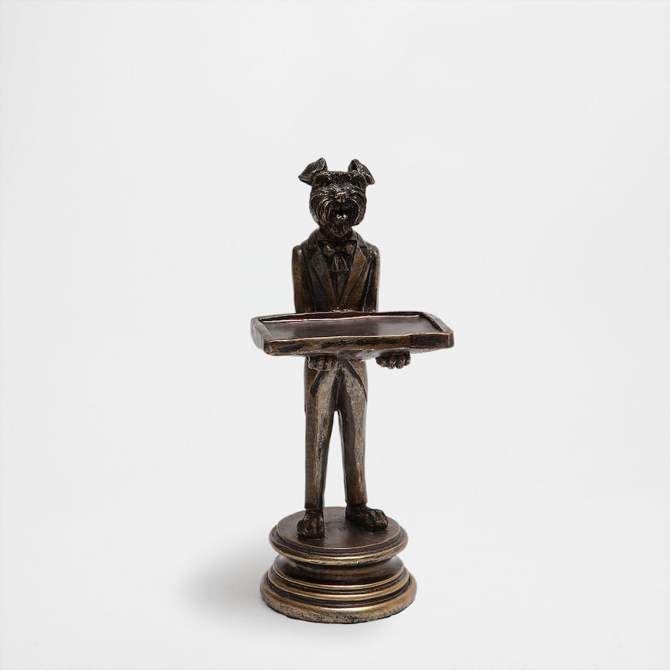 Bronze dog decorative figure