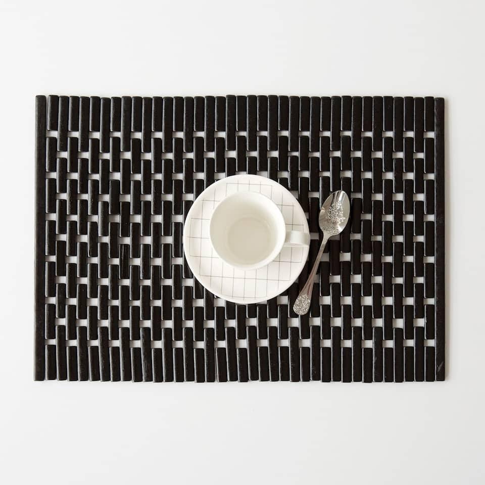 Black blocks placemat