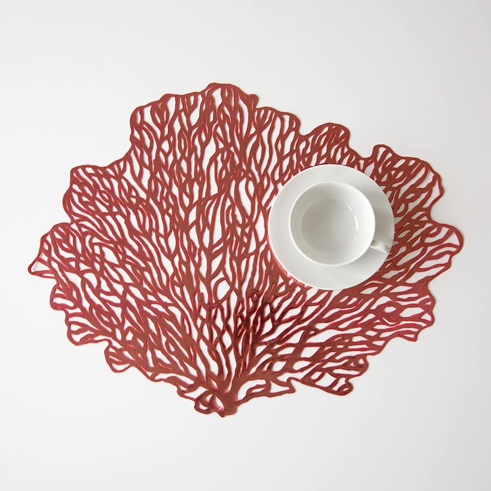 Coral-shaped placemat