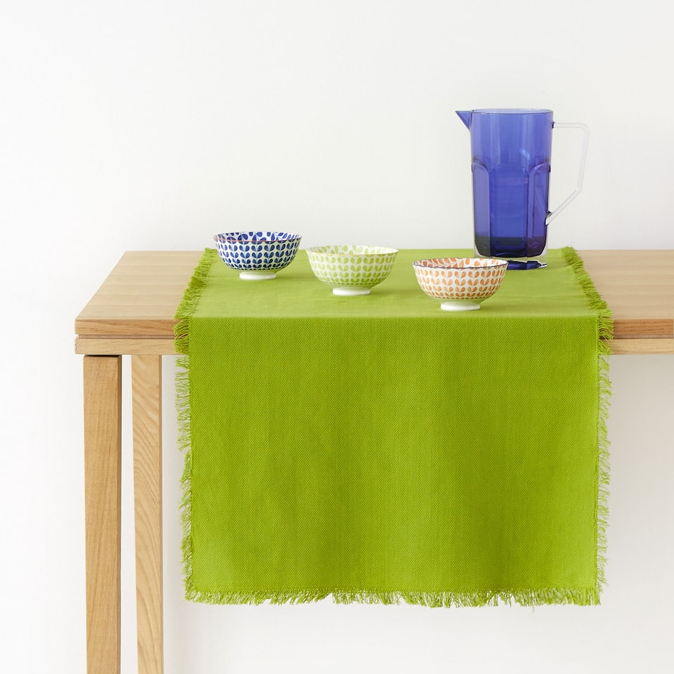 Faded cotton table runner
