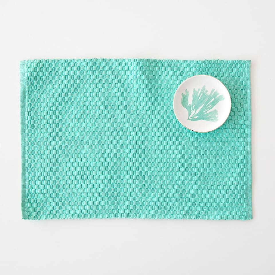 Cotton placemat with shimmer thread (set of 2)
