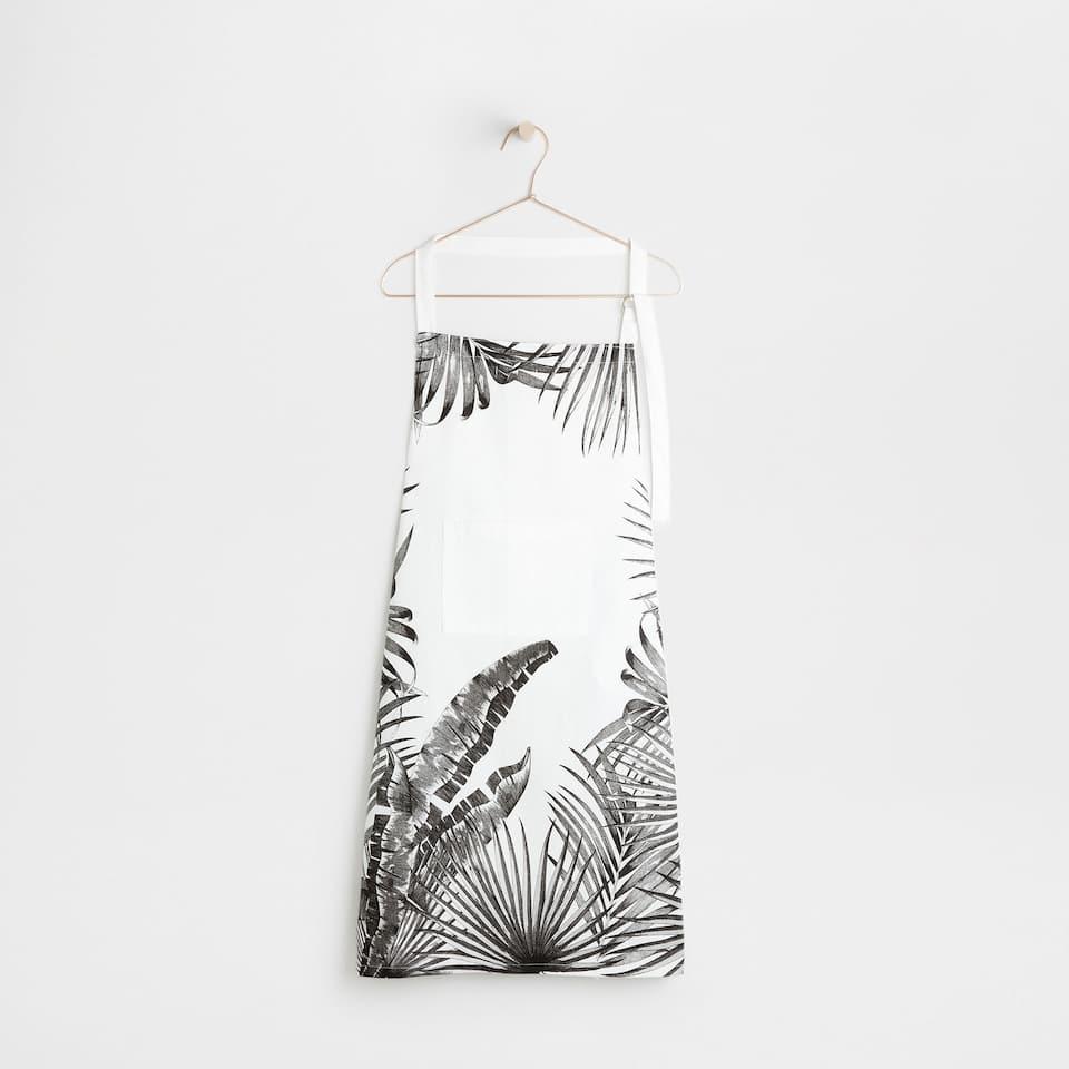 Black palms full-length apron