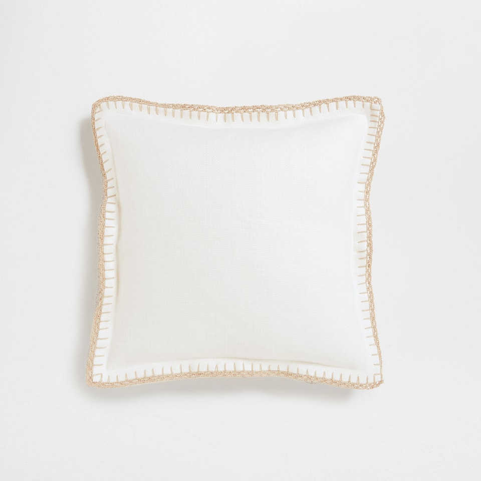 OK-[CROCHET EDGE CUSHION]CT-º52-