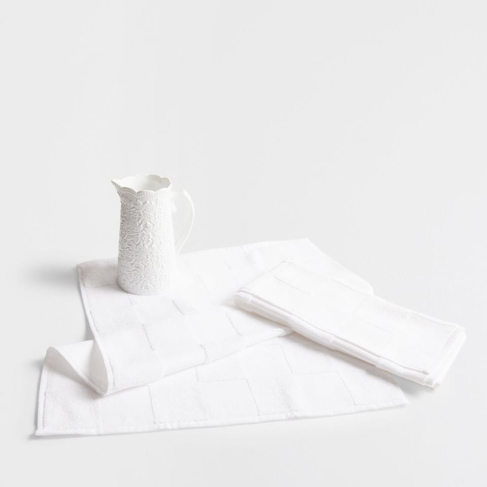 Cotton terrycloth white tea towel