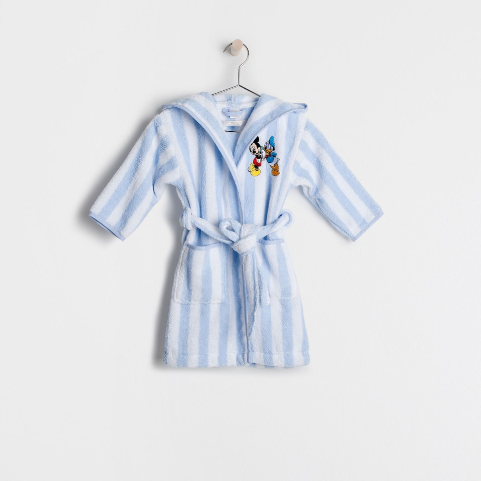 Embroidered Mickey & Donald bathrobe