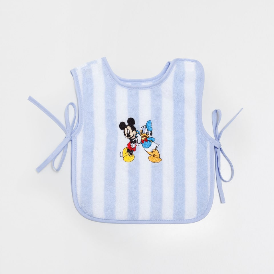 Embroidered Mickey & Donald bib