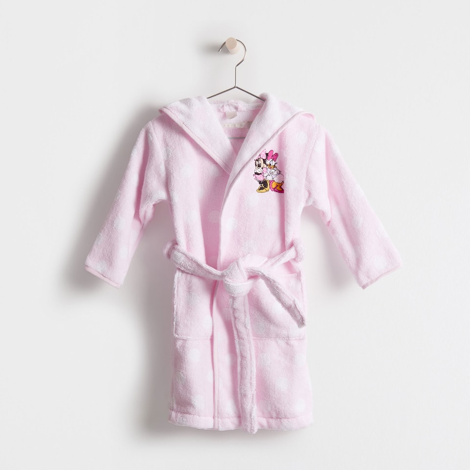 Minnie & Daisy embroidered bathrobe