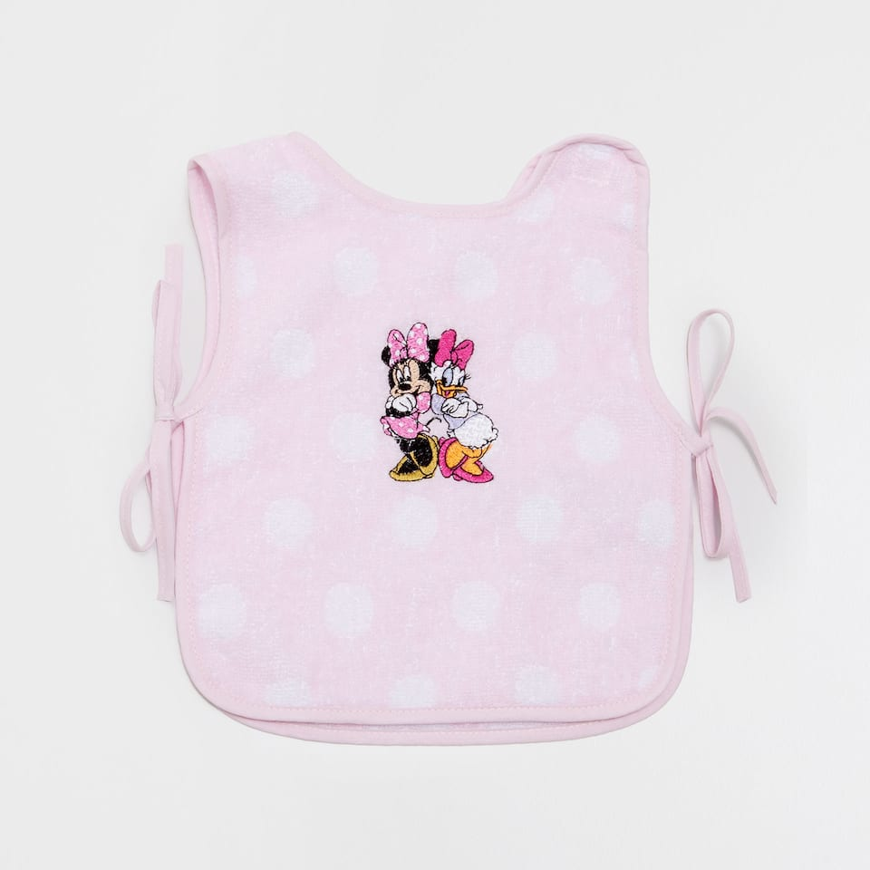 Minnie & Daisy embroidered bib