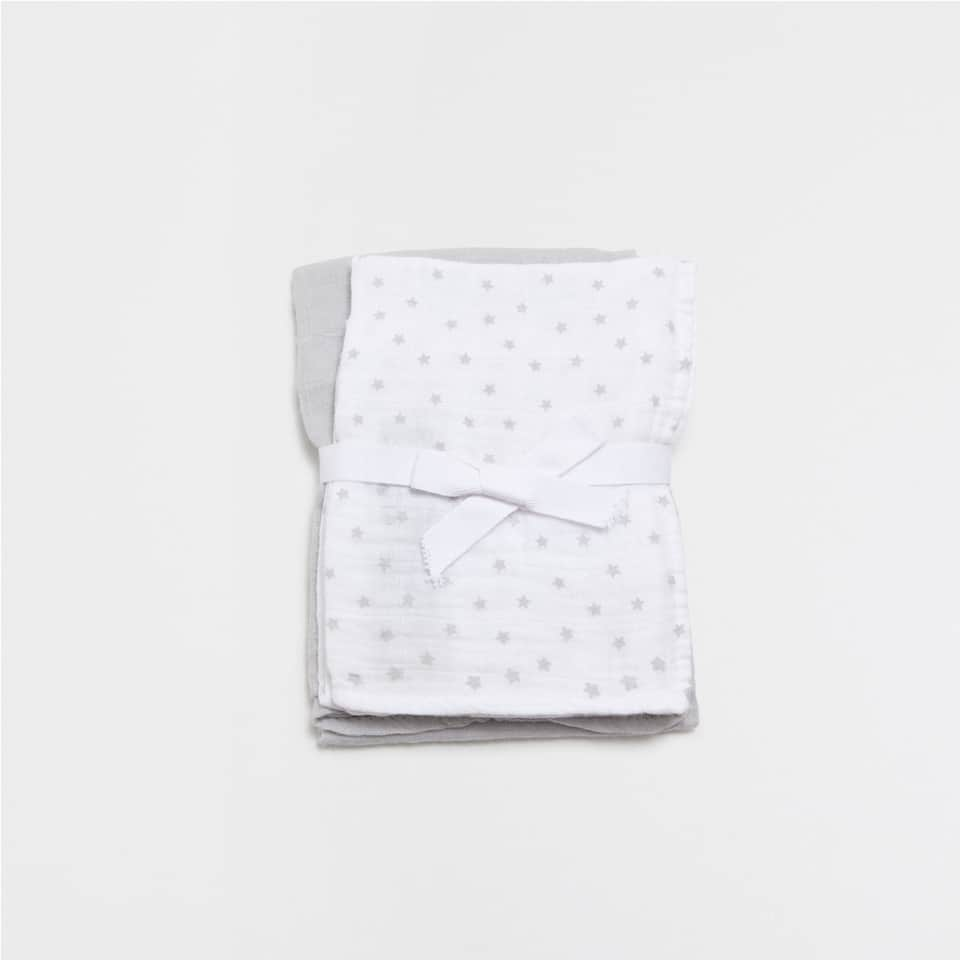 Star print cotton baby cloths (Set of 2)