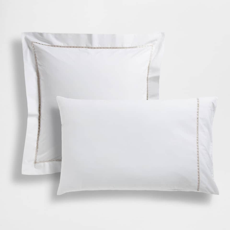 Embroidered Hemstitched Pillow Case