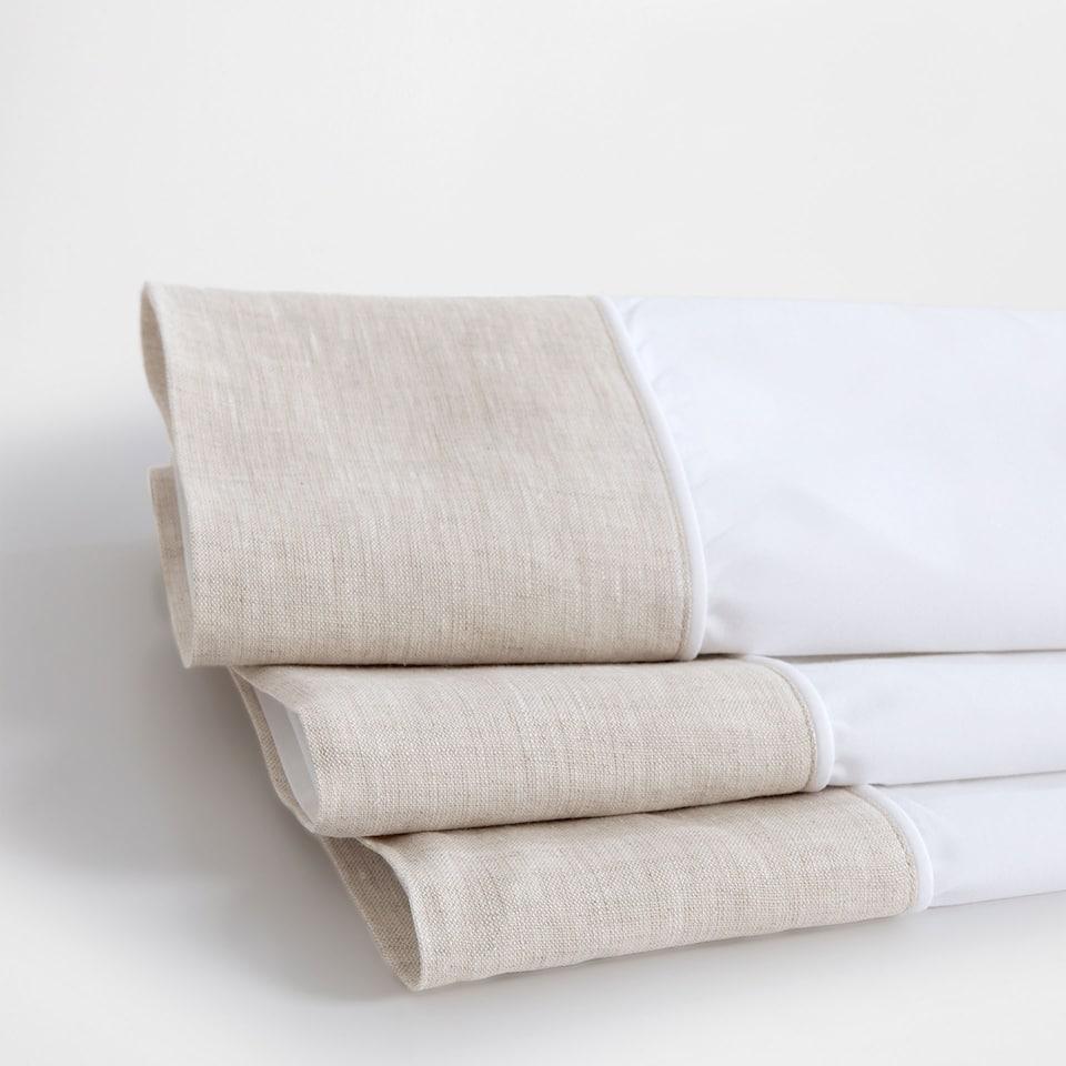 Natural-coloured Linen Appliqué Top Sheet